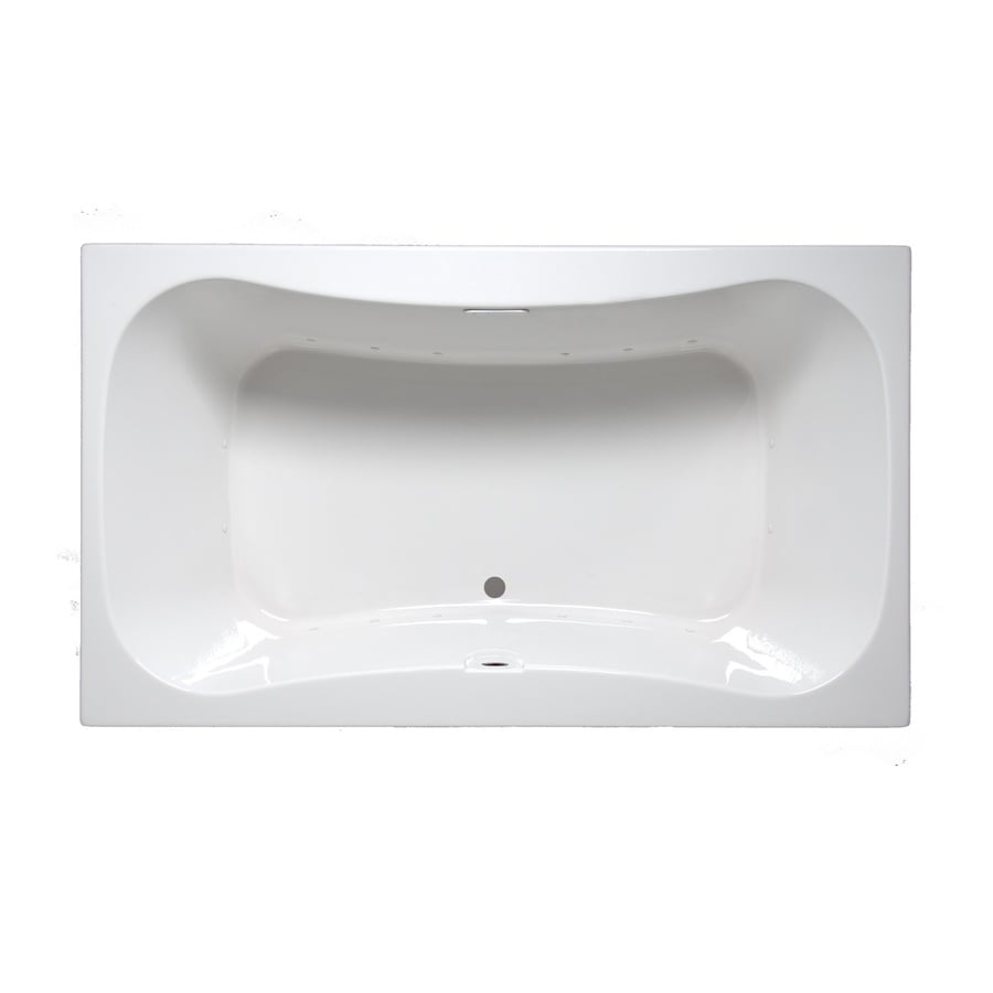 Laurel Mountain Masten II 72-in White Acrylic Drop-In Air Bath with Front Center Drain