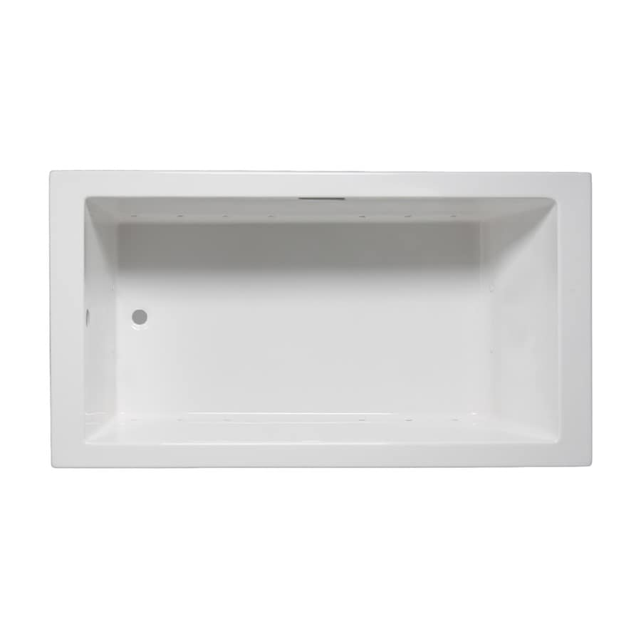 Laurel Mountain Parker II 60-in White Acrylic Drop-In Air Bath with Reversible Drain