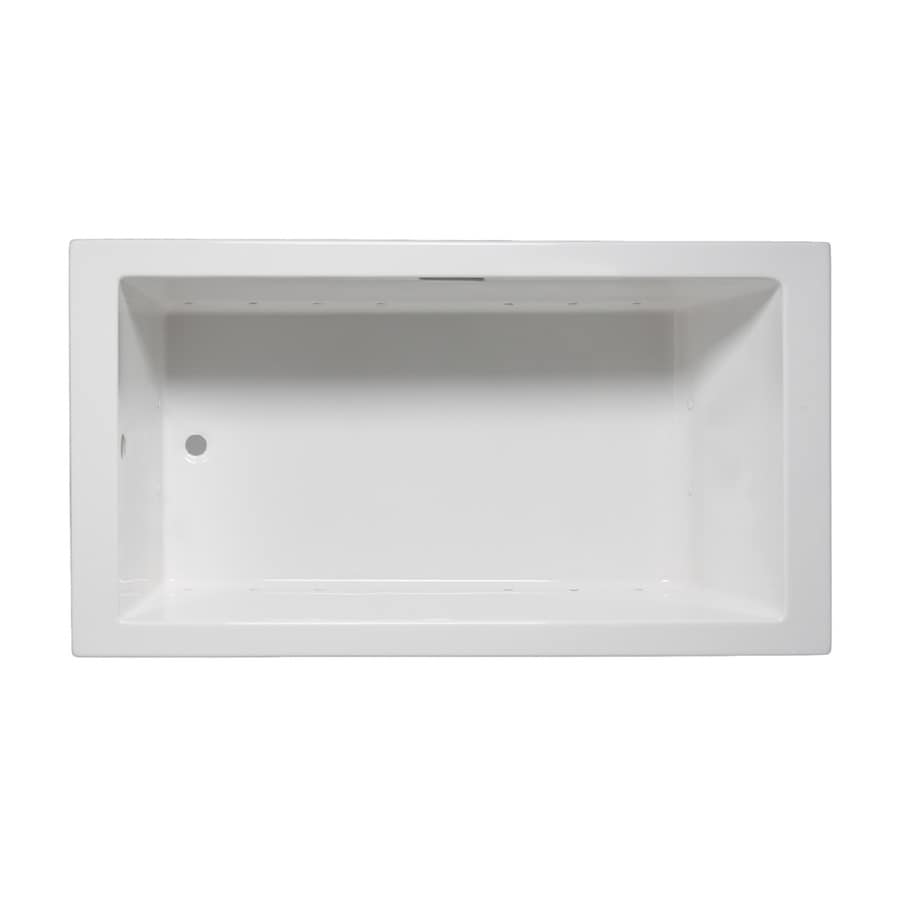 Laurel Mountain Parker Iii 66-in L x 32-in W x 22-in H White Acrylic 1-Person-Person Rectangular Drop-in Air Bath