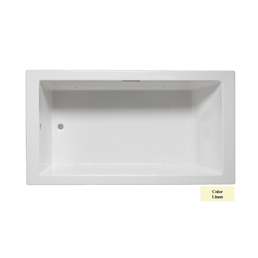 Laurel Mountain Parker Vi 66-in L x 36-in W x 22-in H Linen Acrylic 1-Person-Person Rectangular Drop-in Air Bath