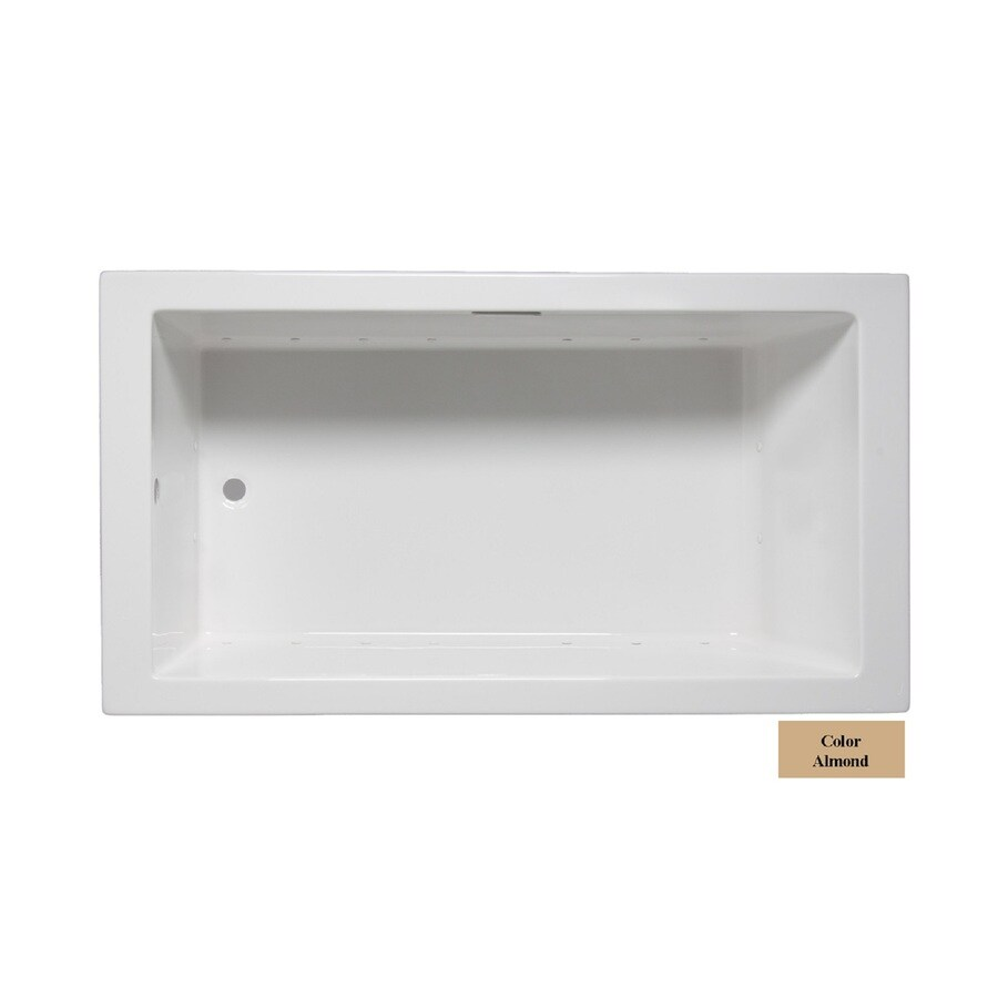 Laurel Mountain Parker Vii 72-in L x 36-in W x 22-in H Almond Acrylic 1-Person-Person Rectangular Drop-in Air Bath