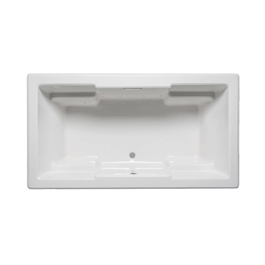 Laurel Mountain Reading V 72-in White Acrylic Drop-In Air Bath with Front Center Drain