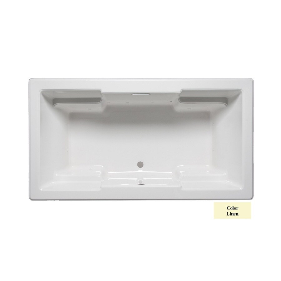 Laurel Mountain Reading 72-in Linen Acrylic Drop-In Air Bath with Front Center Drain