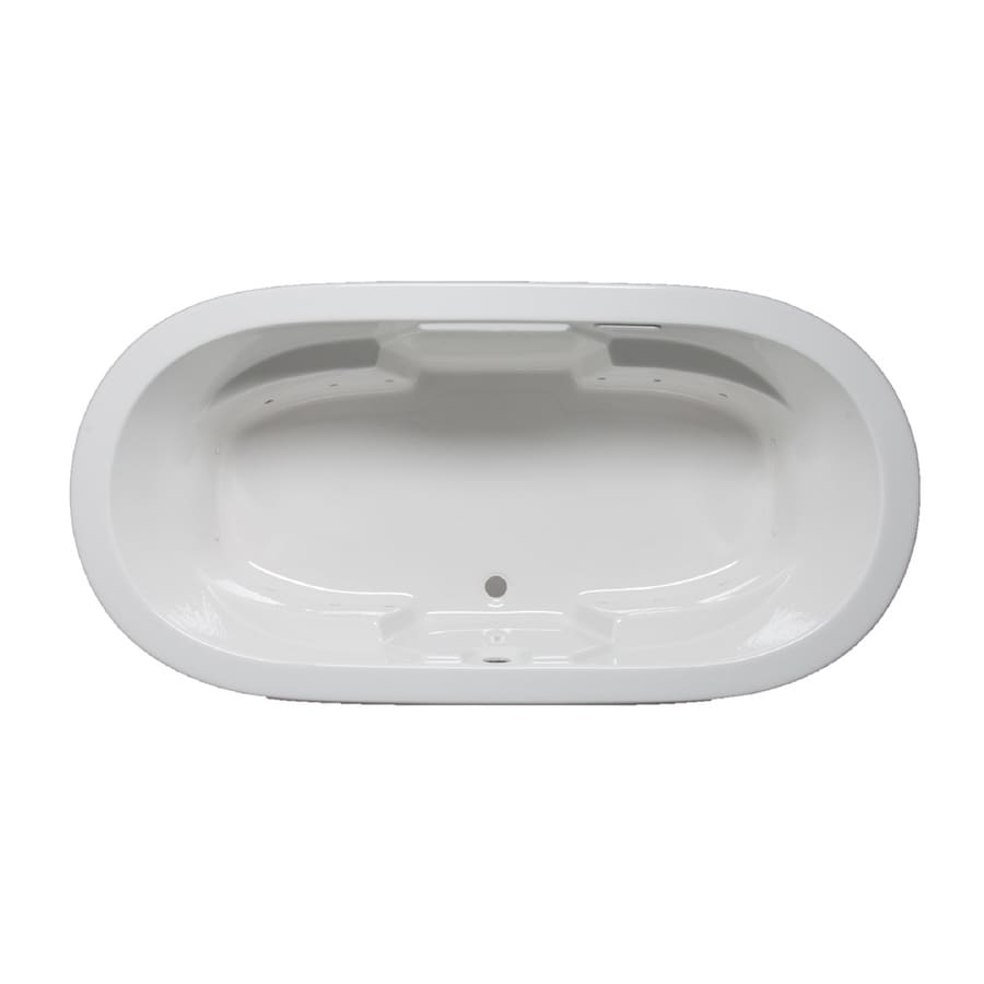 Laurel Mountain Warren 72-in White Acrylic Drop-In Air Bath with Front Center Drain