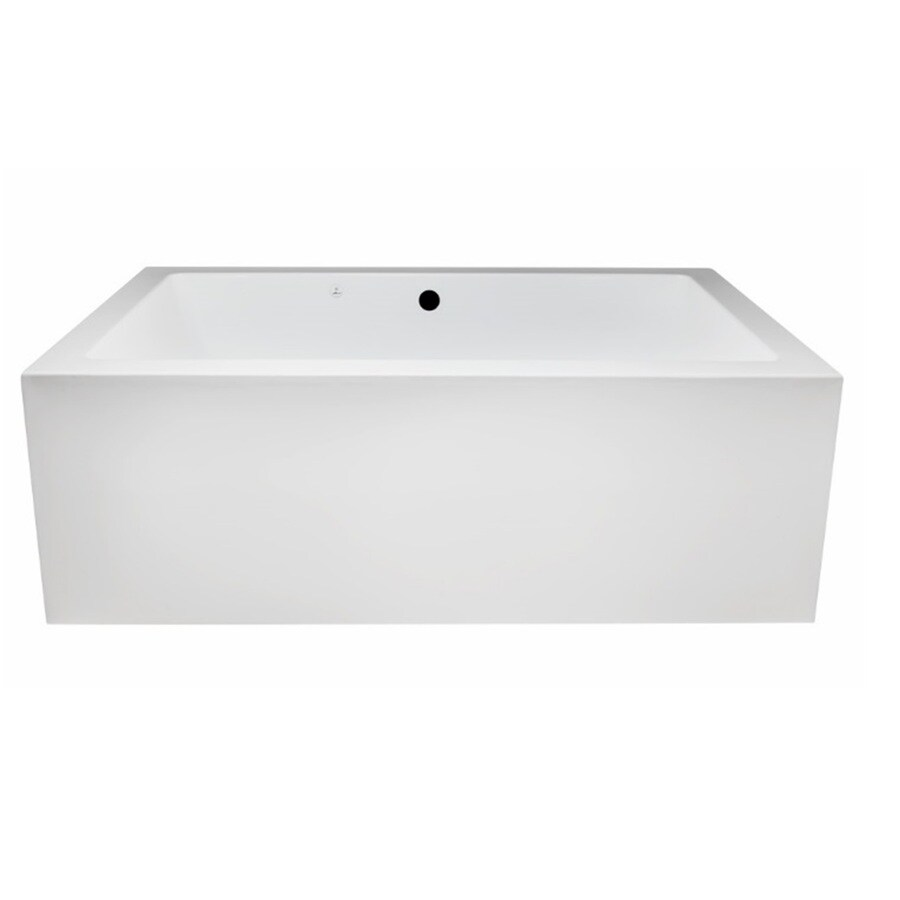 Laurel Mountain Berks I 66-in L x 40-in W x 23-in H 2-Person White Acrylic Rectangular Whirlpool Tub and Air Bath