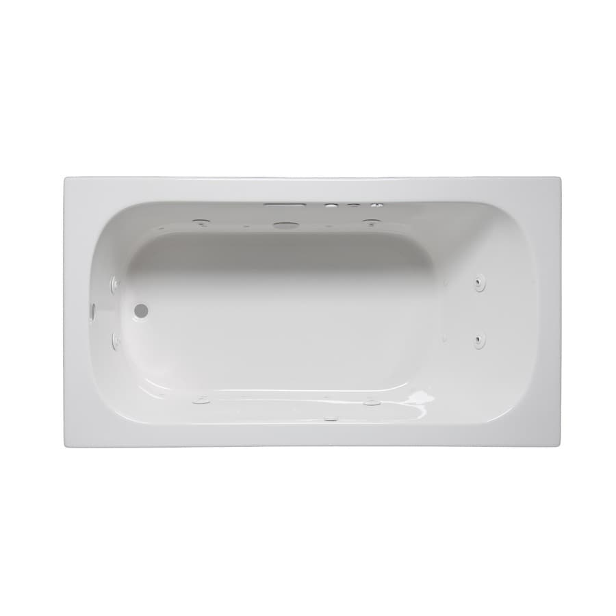 Laurel Mountain Butler I 60-in L x 32-in W x 22-in H White Acrylic Rectangular Whirlpool Tub and Air Bath