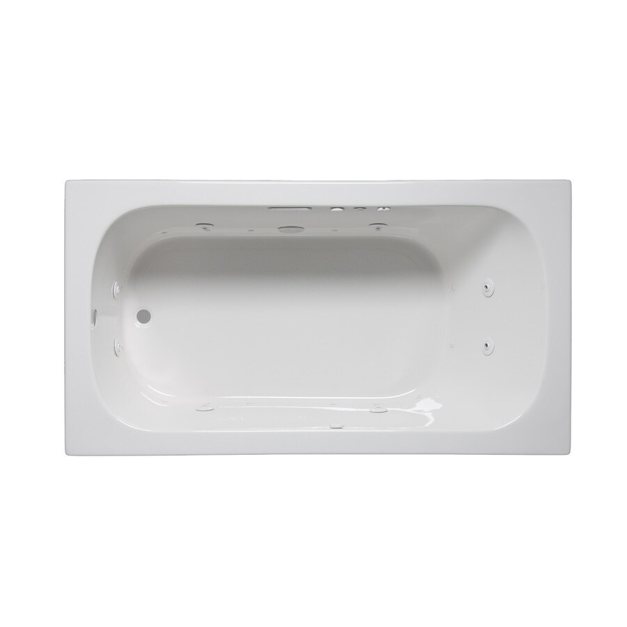Laurel Mountain Butler Ii 66-in L x 32-in W x 22-in H 1-Person White Acrylic Rectangular Whirlpool Tub and Air Bath