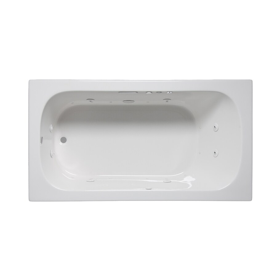 Laurel Mountain Butler Iii 66-in L x 36-in W x 22-in H 1-Person White Acrylic Rectangular Whirlpool Tub and Air Bath