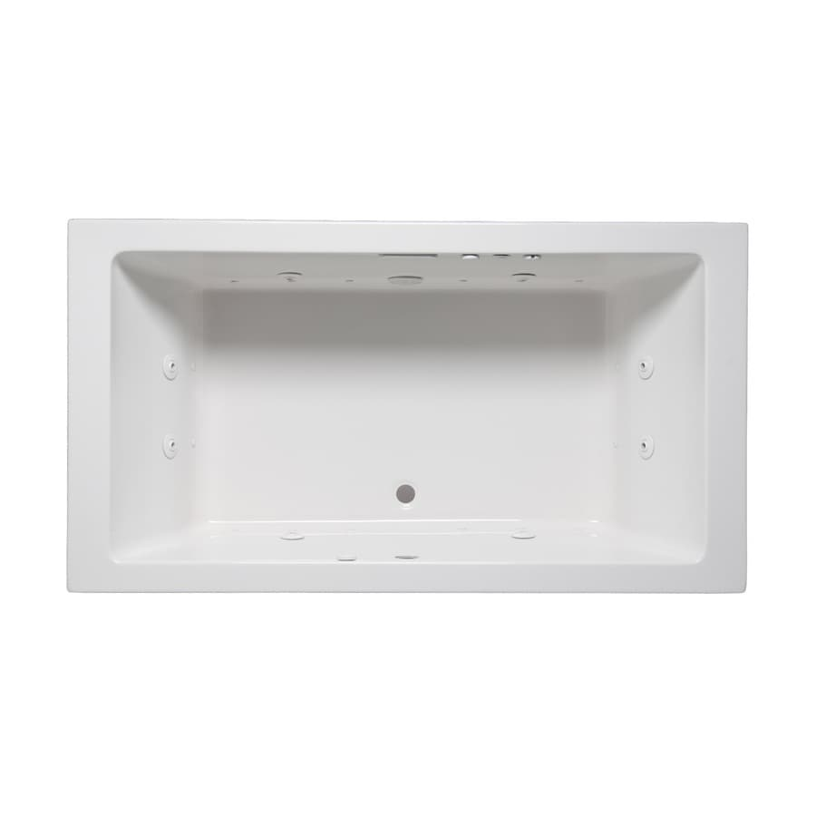 Laurel Mountain Farrell I 66-in L x 36-in W x 22-in H 2-Person White Acrylic Rectangular Whirlpool Tub and Air Bath