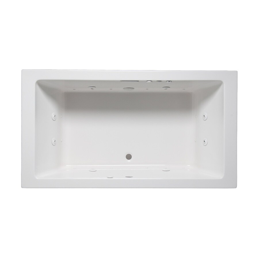 Laurel Mountain Farrell III 66-in L x 42-in W x 22-in H 2-Person White Acrylic Rectangular Whirlpool Tub and Air Bath