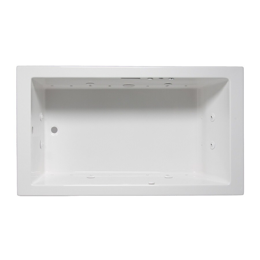 Laurel Mountain Parker I 60-in L x 30-in W x 22-in H White Acrylic Rectangular Whirlpool Tub and Air Bath