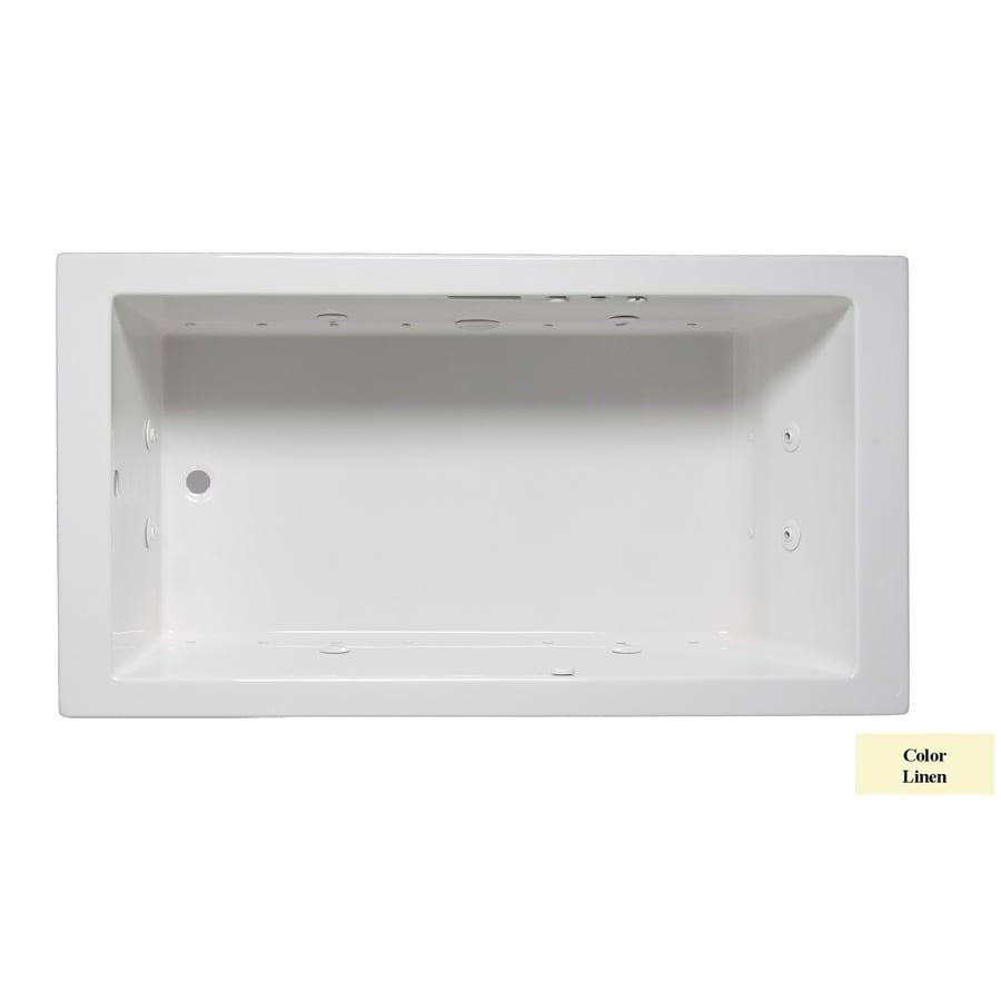 Laurel Mountain Parker I 60-in L x 30-in W x 22-in H Linen Acrylic Rectangular Whirlpool Tub and Air Bath