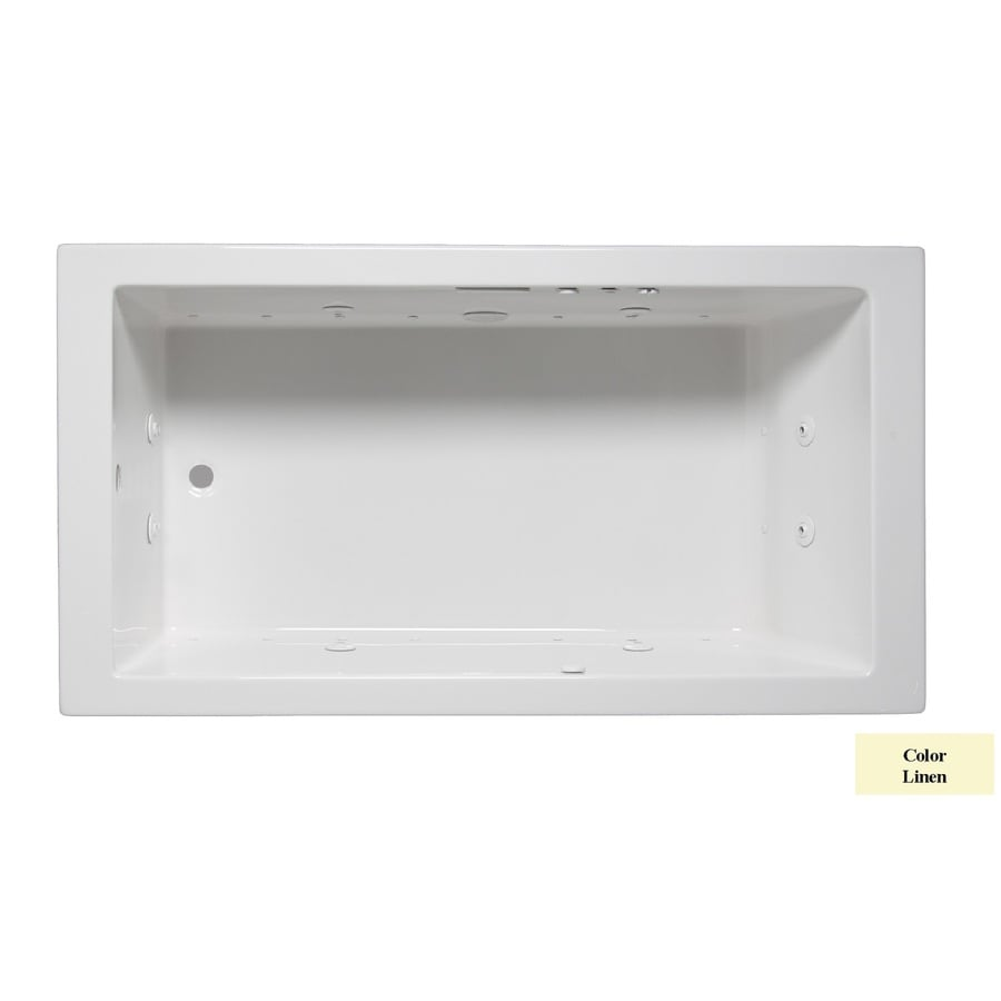Laurel Mountain Parker II 60-in L x 32-in W x 22-in H Linen Acrylic Rectangular Whirlpool Tub and Air Bath