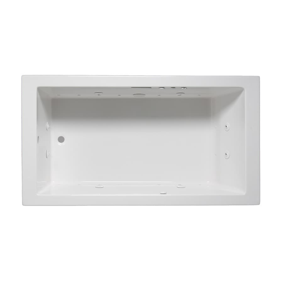 Laurel Mountain Parker III 66-in L x 32-in W x 22-in H White Acrylic Rectangular Whirlpool Tub and Air Bath