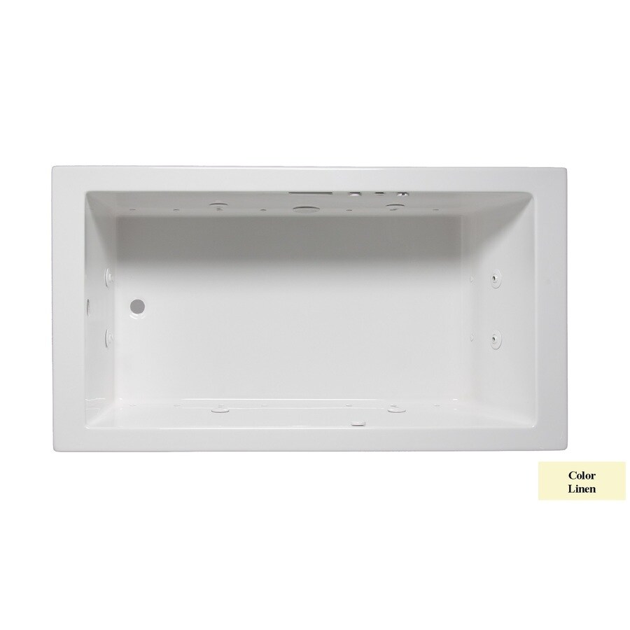 Laurel Mountain Parker III 66-in L x 32-in W x 22-in H Linen Acrylic Rectangular Whirlpool Tub and Air Bath