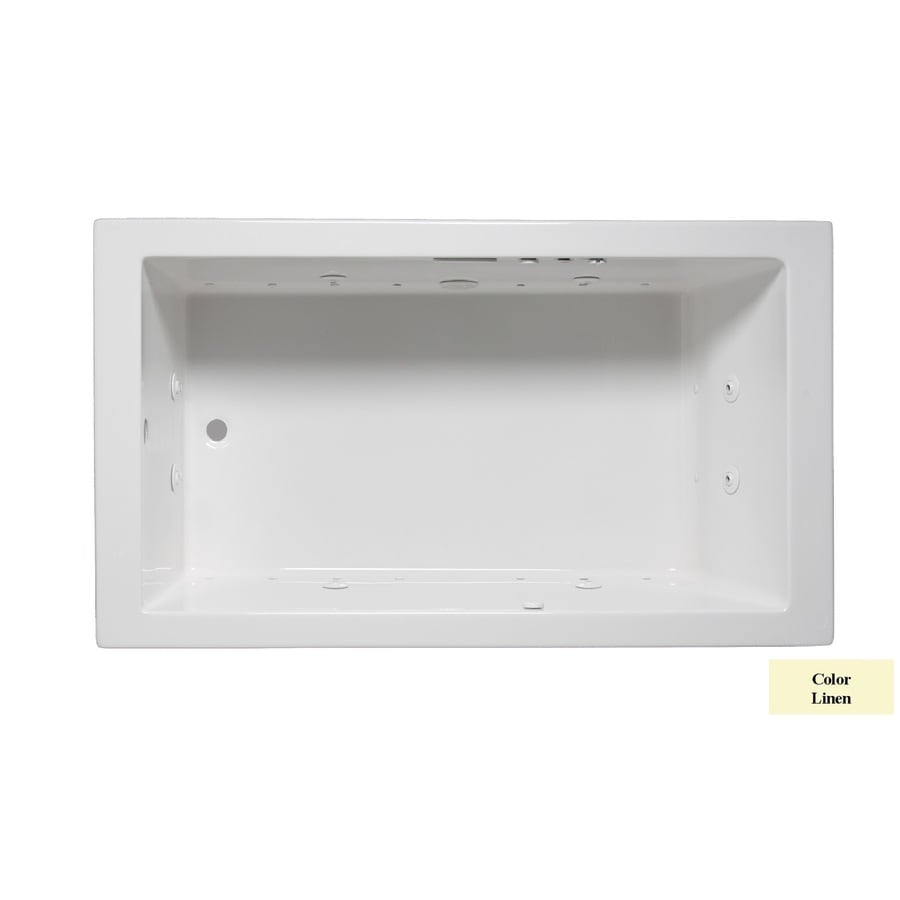 Laurel Mountain Parker Iv 72-in L x 32-in W x 22-in H 1-Person Linen Acrylic Rectangular Whirlpool Tub and Air Bath
