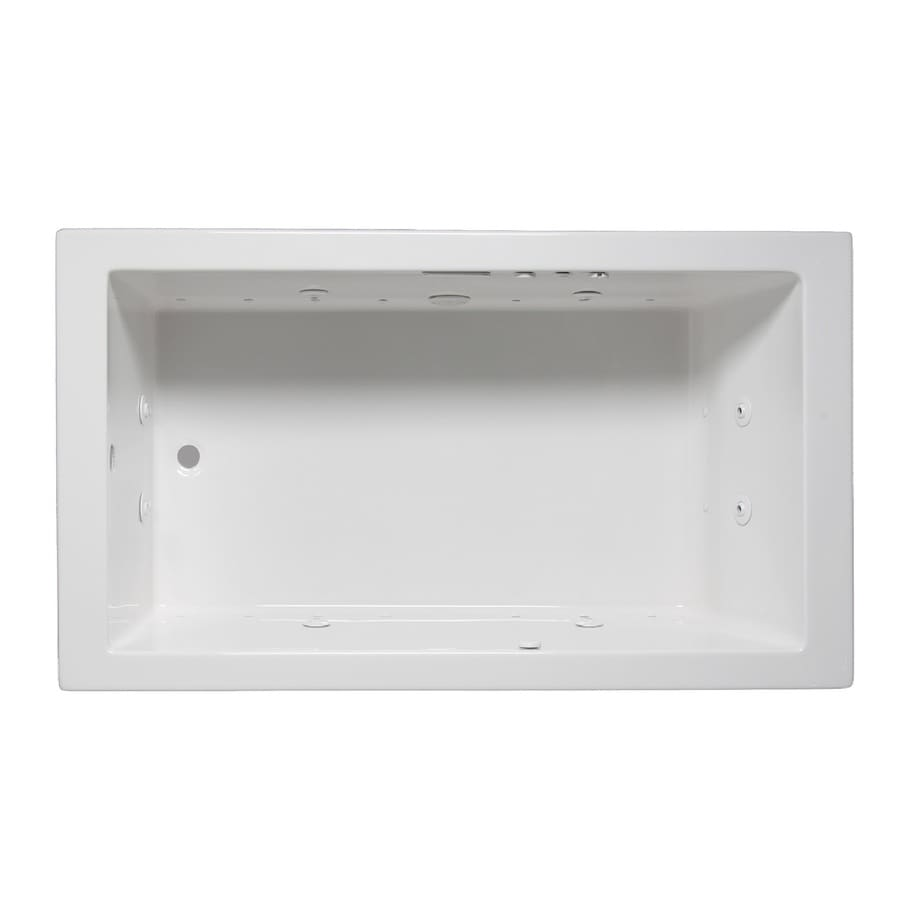 Laurel Mountain Parker V 60-in L x 36-in W x 22-in H White Acrylic Rectangular Whirlpool Tub and Air Bath