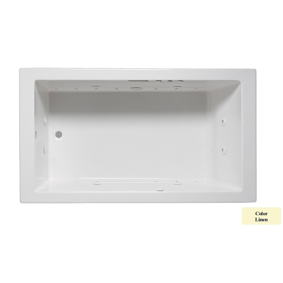 Laurel Mountain Parker V 60-in L x 36-in W x 22-in H Linen Acrylic Rectangular Whirlpool Tub and Air Bath