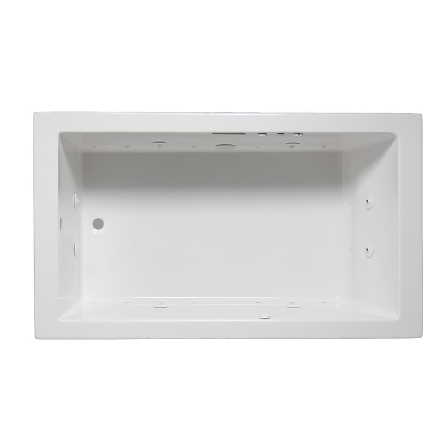 Laurel Mountain Parker VI 66-in White Acrylic Drop-In Whirlpool Tub And Air Bath with Reversible Drain