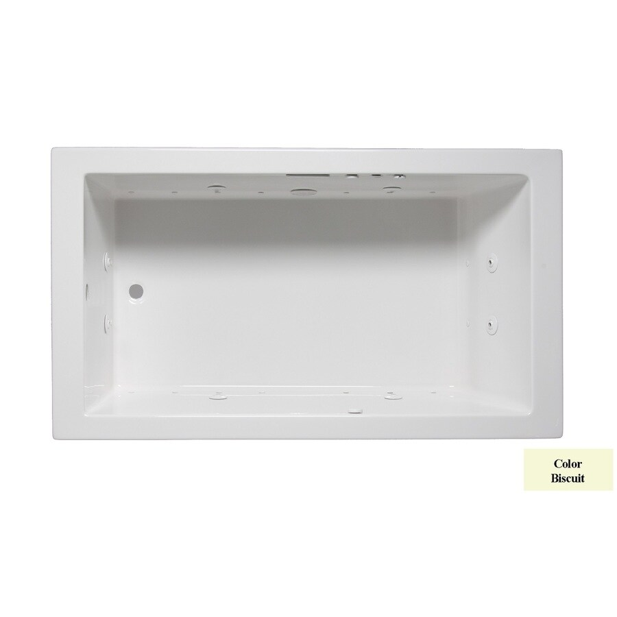 Laurel Mountain Parker Vii 72-in L x 36-in W x 22-in H 1-Person Biscuit Acrylic Rectangular Whirlpool Tub and Air Bath