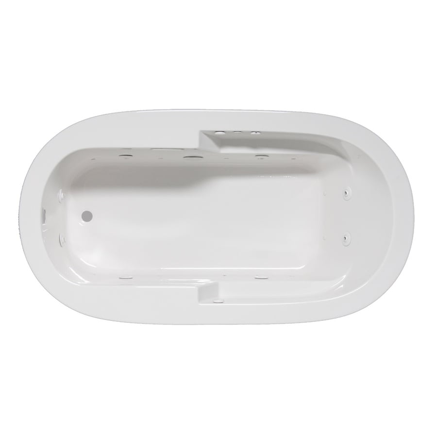 Laurel Mountain Venango 72-in L x 42-in W x 22-in H 1-Person White Acrylic Oval Whirlpool Tub and Air Bath
