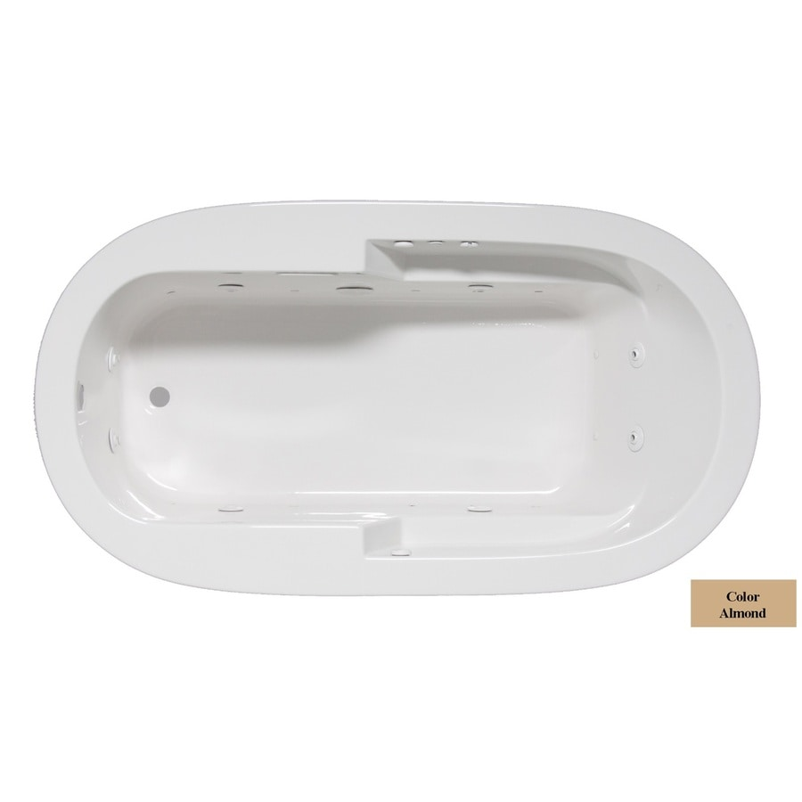Laurel Mountain Venango 72-in L x 42-in W x 22-in H 1-Person Almond Acrylic Oval Whirlpool Tub and Air Bath