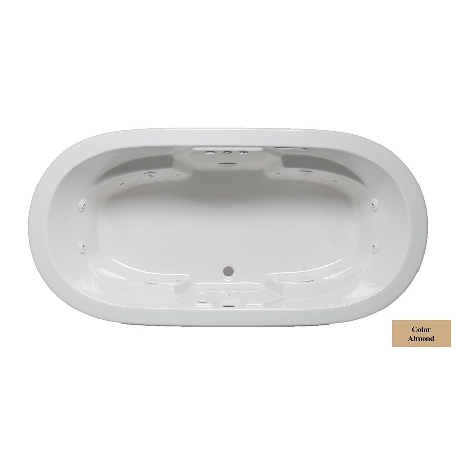 Laurel Mountain Warren 72-in L x 36-in W x 22-in H 2-Person Almond Acrylic Oval Whirlpool Tub and Air Bath
