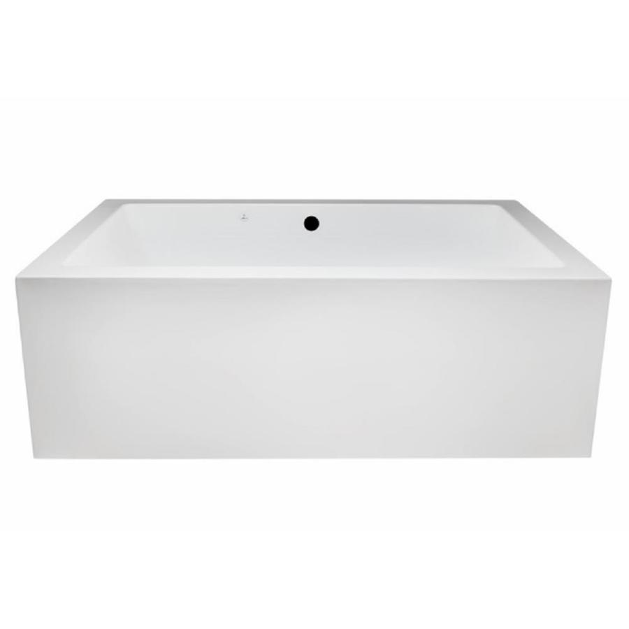 Laurel Mountain Berks I 66-in White Acrylic Pedestal Bathtub with Front Center Drain