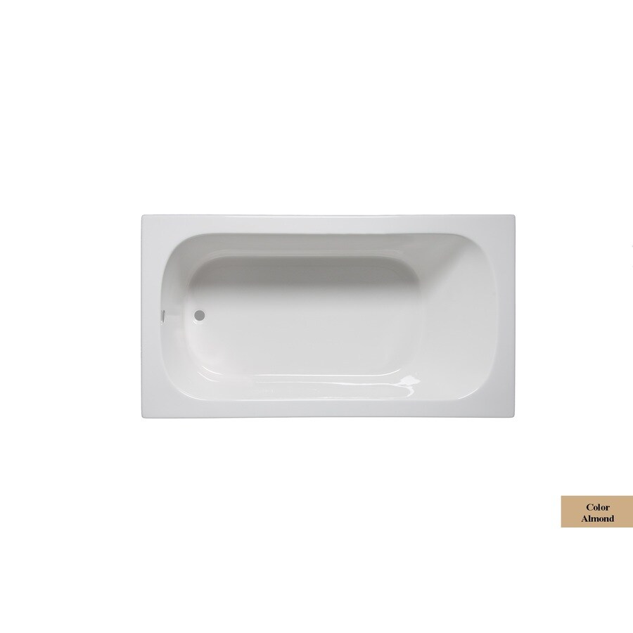Laurel Mountain Butler I 60-in Almond Acrylic Drop-In Bathtub with Reversible Drain
