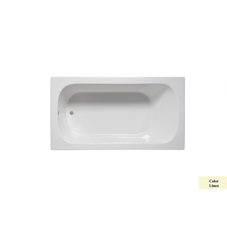 Laurel Mountain Butler II 66-in Linen Acrylic Drop-In Bathtub with Reversible Drain