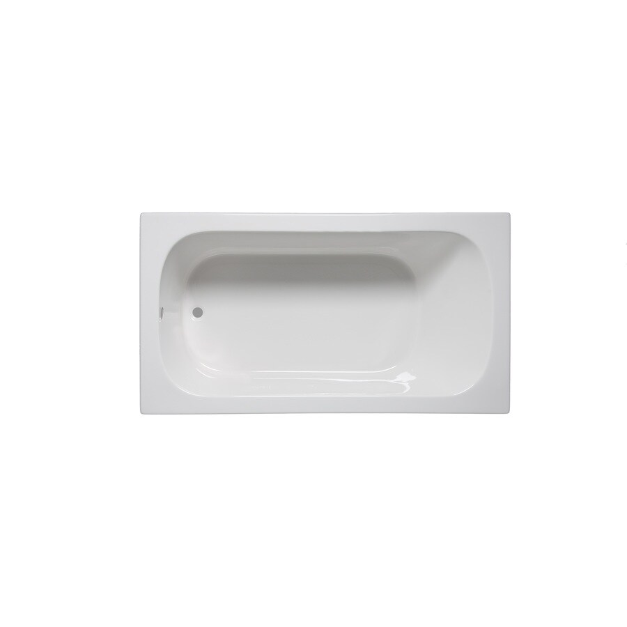 Laurel Mountain Butler Iv White Acrylic Rectangular Drop-in Bathtub with Reversible Drain (Common: 36-in x 72-in; Actual: 22-in x 36-in x 72-in