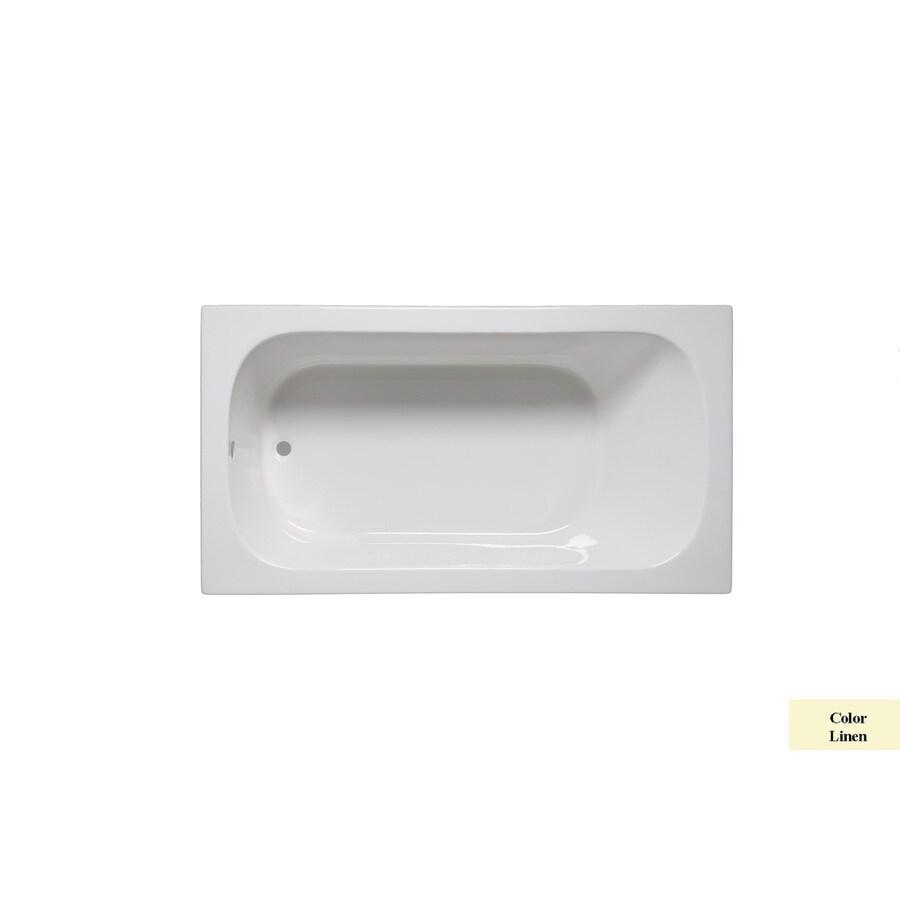 Laurel Mountain Butler Iv Linen Acrylic Rectangular Drop-in Bathtub with Reversible Drain (Common: 36-in x 72-in; Actual: 22-in x 36-in x 72-in