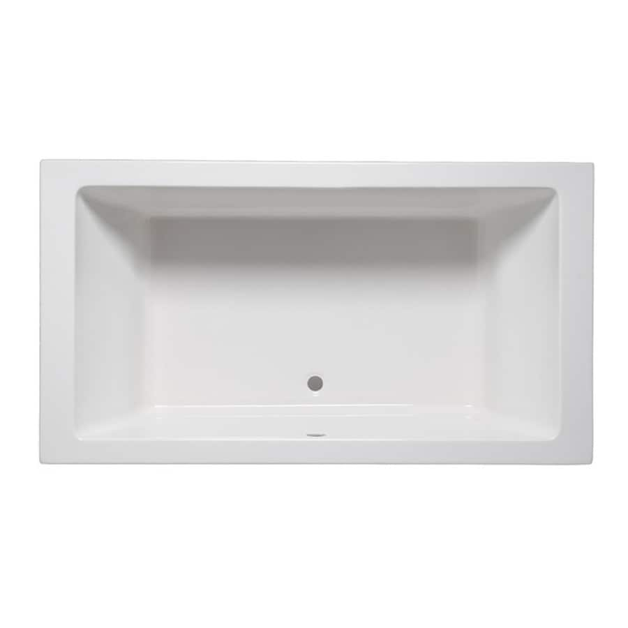 Laurel Mountain Farrell II White Acrylic Rectangular Drop-In Bathtub with Front Center Drain (Common: 36-in x 72-in; Actual: 22-in x 36-in x 72-in)