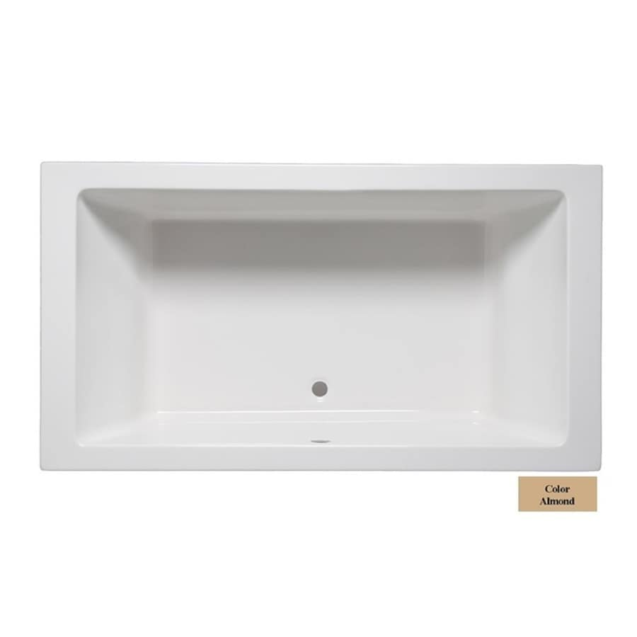 Laurel Mountain Farrell II 72-in Almond Acrylic Drop-In Bathtub with Front Center Drain