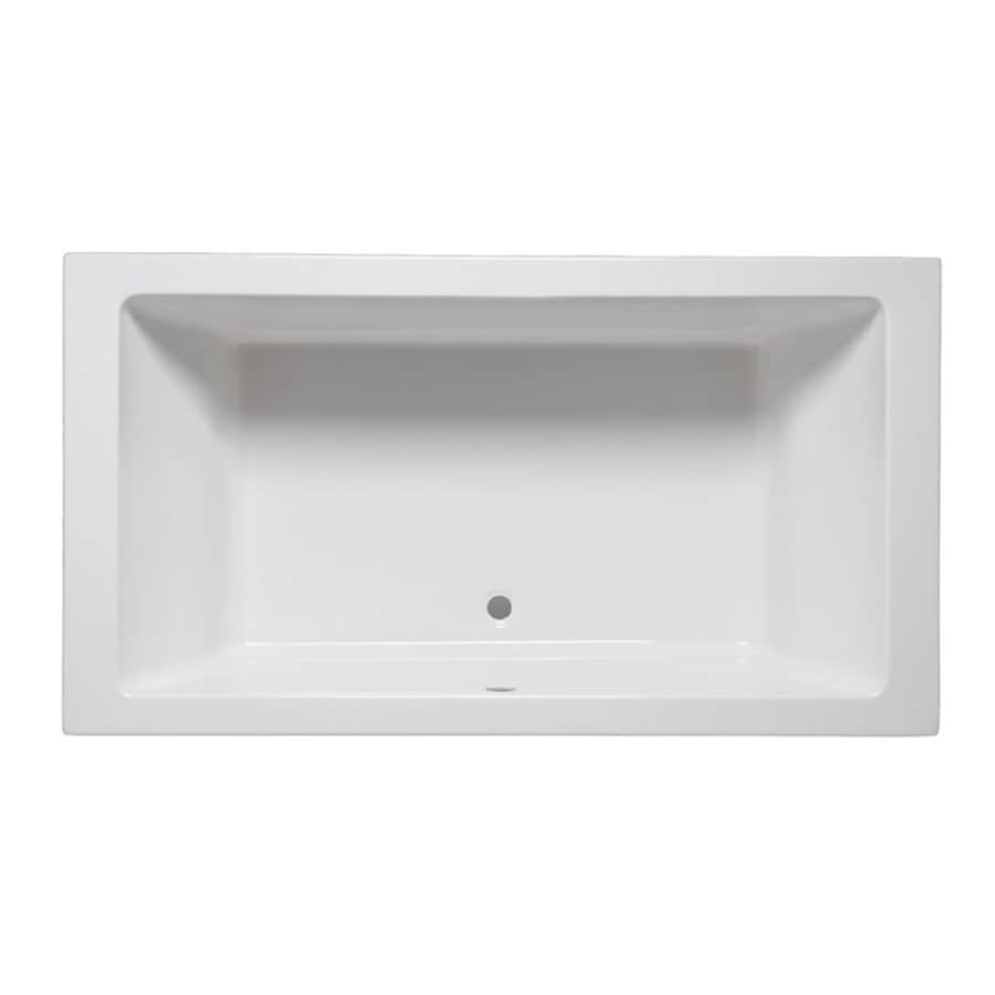 Laurel Mountain Farrell III 66-in White Acrylic Drop-In Bathtub with Center Drain