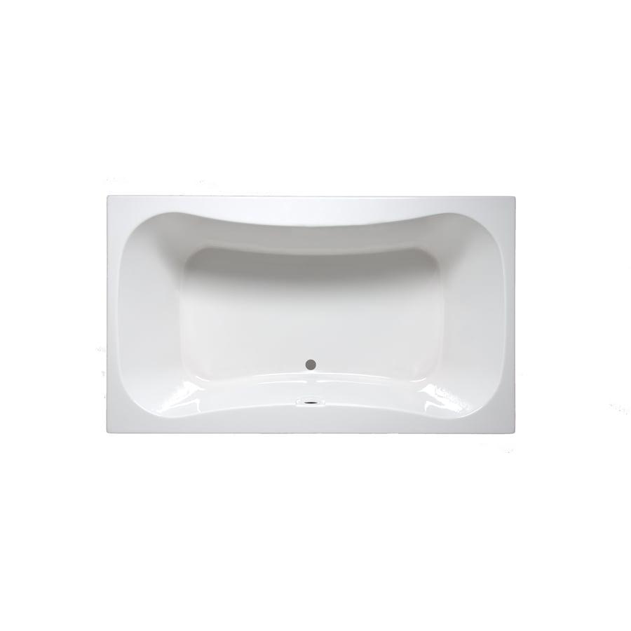 Laurel Mountain Masten I 60-in Linen Acrylic Drop-In Bathtub with Center Drain