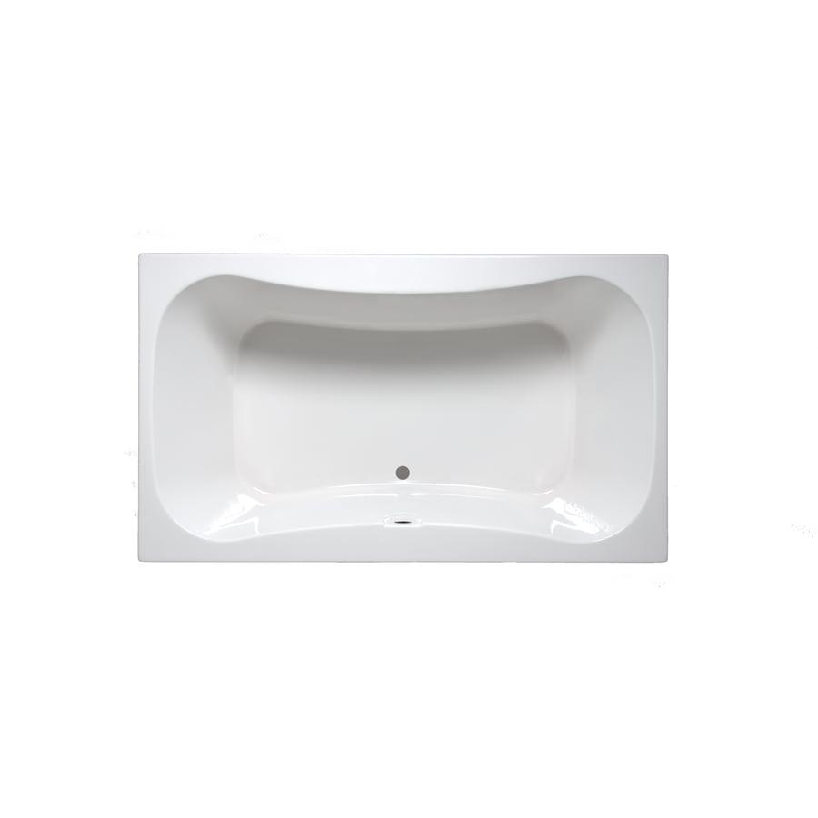 Laurel Mountain Masten II 72-in Biscuit Acrylic Drop-In Bathtub with Center Drain
