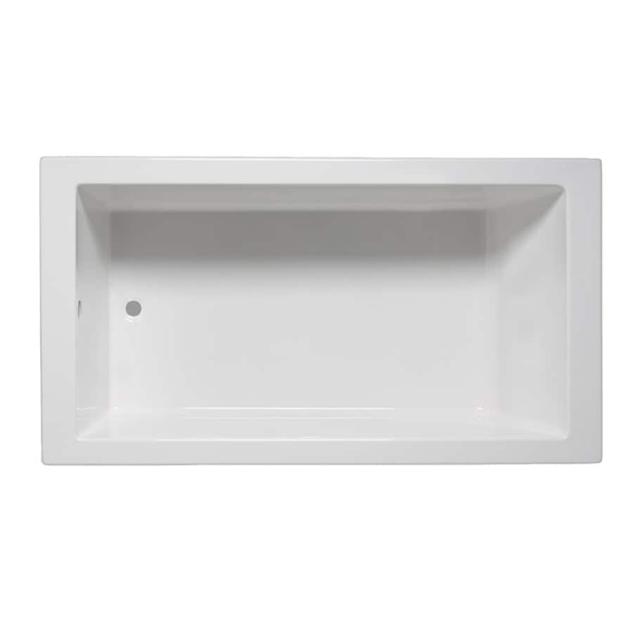 Laurel Mountain Parker Iv White Acrylic Rectangular Drop-in Bathtub with Reversible Drain (Common: 32-in x 72-in; Actual: 22-in x 32-in x 72-in