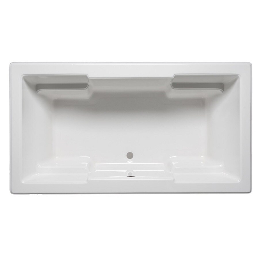 Laurel Mountain Reading White Acrylic Rectangular Drop-in Bathtub with Front Center Drain (Common: 42-in x 72-in; Actual: 22-in x 42-in x 72-in