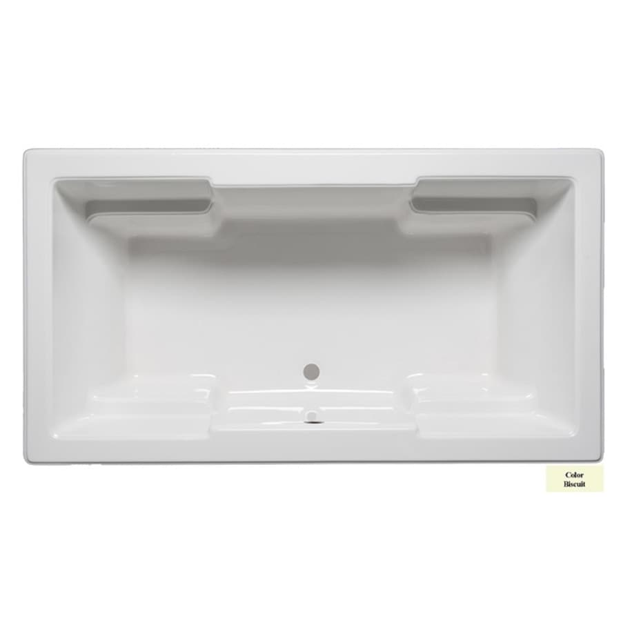 Laurel Mountain Reading V 72-in Biscuit Acrylic Drop-In Bathtub with Front Center Drain