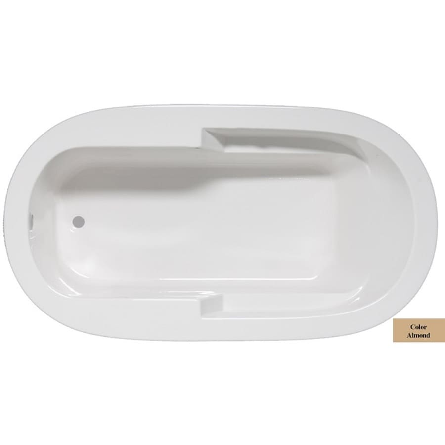 Laurel Mountain Venango Almond Acrylic Oval Drop-in Bathtub with Reversible Drain (Common: 42-in x 72-in; Actual: 22-in x 42-in x 72-in