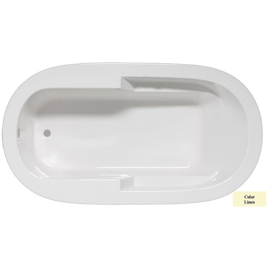 Laurel Mountain Venango Linen Acrylic Oval Drop-in Bathtub with Reversible Drain (Common: 42-in x 72-in; Actual: 22-in x 42-in x 72-in