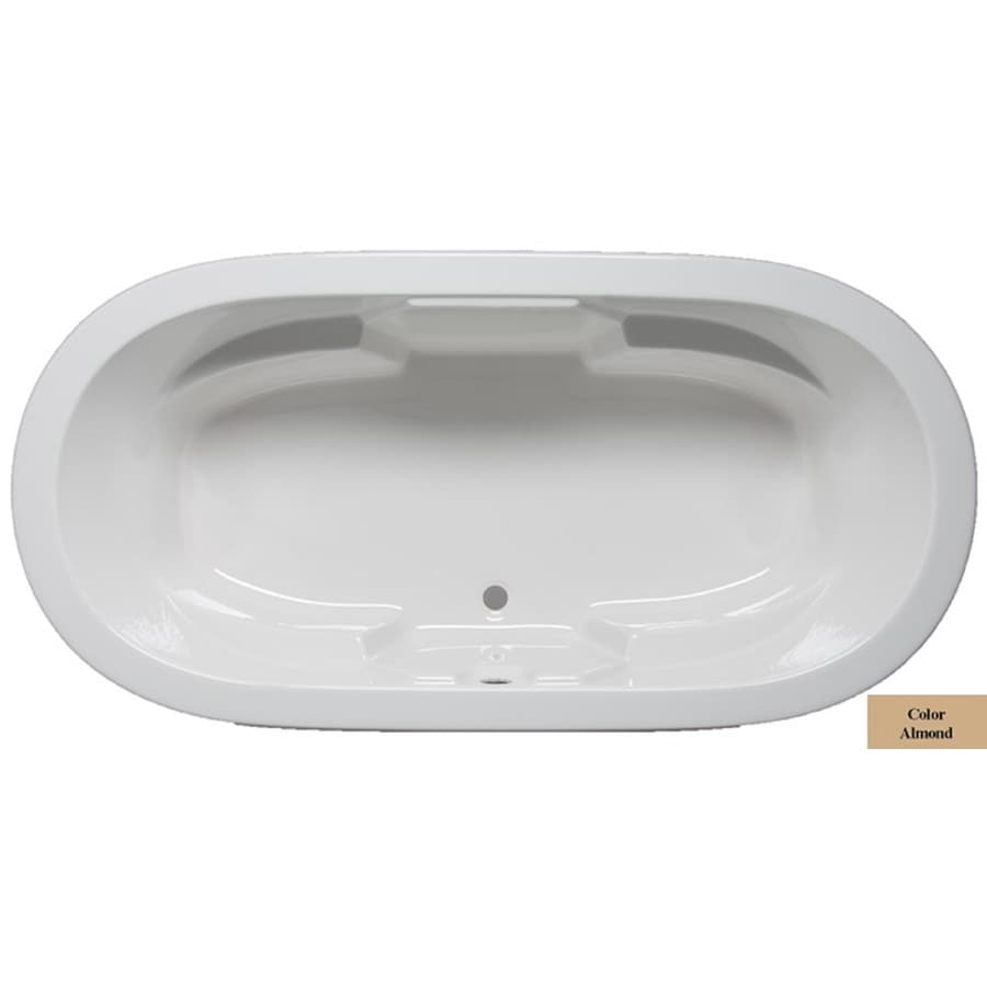 Laurel Mountain Warren 72-in Almond Acrylic Drop-In Bathtub with Front Center Drain