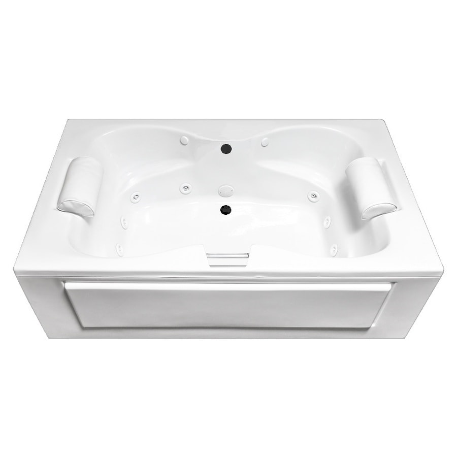 Laurel Mountain Seneca IV 60-in White Acrylic Skirted Whirlpool Tub with Back Center Drain