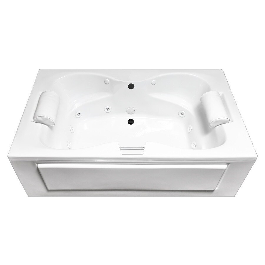 Laurel Mountain Seneca Skirted 2-Person White Acrylic Rectangular Whirlpool Tub (Common: 42-in x 60-in; Actual: 23-in x 42-in x 60-in)