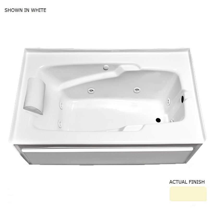 Laurel Mountain Mercer VIII Skirted Linen Acrylic Rectangular Whirlpool Tub (Common: 36-in x 66-in; Actual: 22-in x 36-in x 66-in)