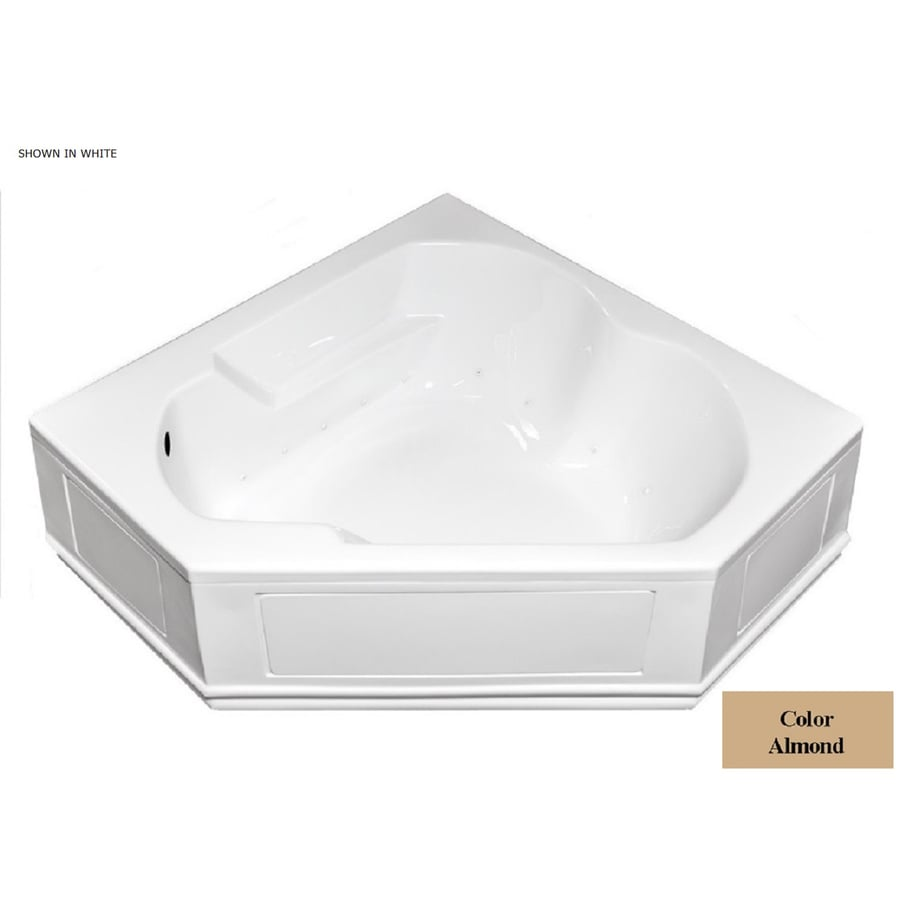 Laurel Mountain Dual Corner Plus 60-in L x 60-in W x 20-in H Almond Acrylic 2-Person Corner Skirted Air Bath