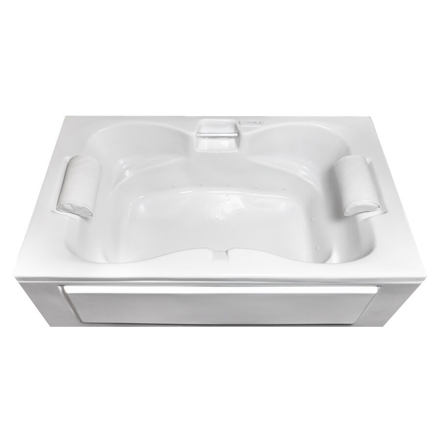 Laurel Mountain Seneca IV 60-in White Acrylic Skirted Air Bath with Front Center Drain