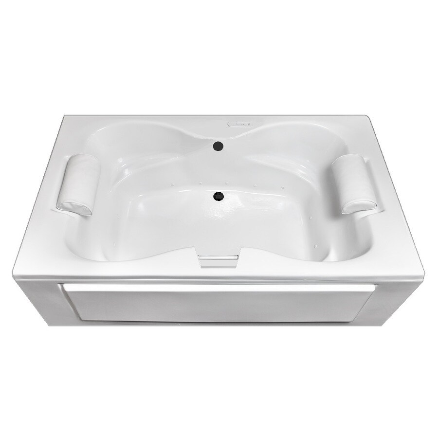 Laurel Mountain Seneca I 60-in L x 42-in W x 23-in H White Acrylic 2-Person Rectangular Skirted Air Bath