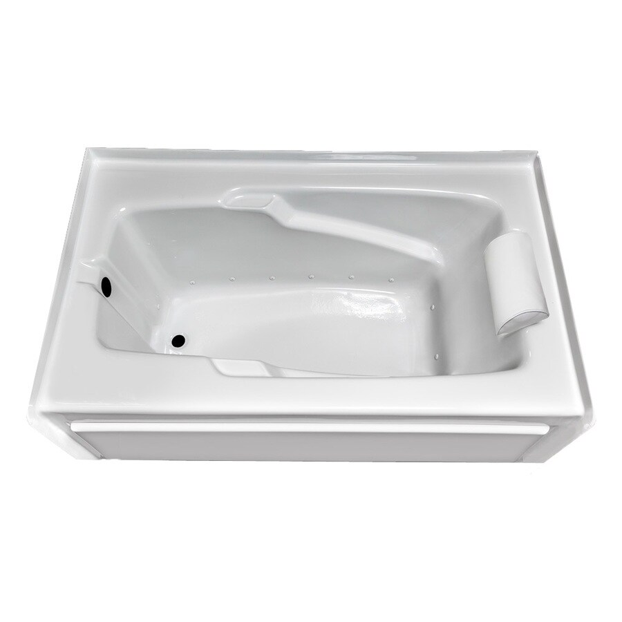Laurel Mountain Mercer VII 66-in L x 36-in W x 21-in H White Acrylic Rectangular Skirted Air Bath